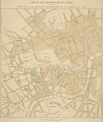 Map of the western side of London distinguishing the estate of Her Majesty's Commissioners for the exhibition of 1851